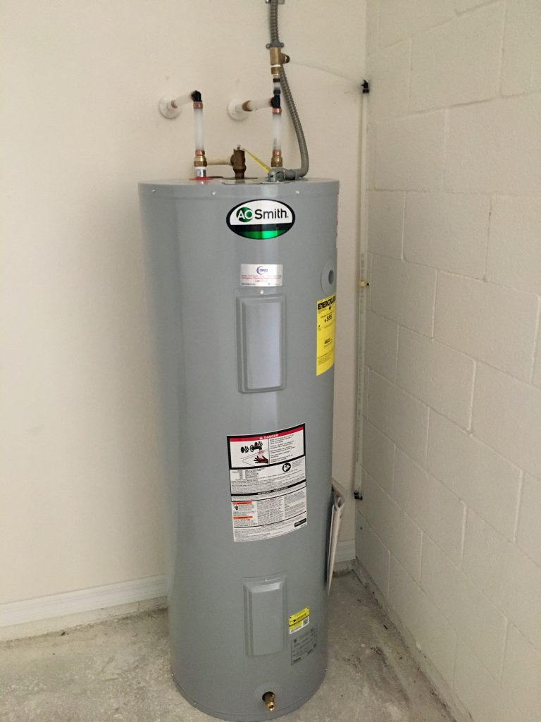 Hot water heater is in!